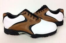 FootJoy Contour Series Mens Size 10 Xtra-W Brown Saddle Leather Golf Shoes New