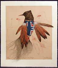 "Frank Howell ""Plains Vestige"" Hand Signed & Numbered 1982 Lithograph L@@K!"