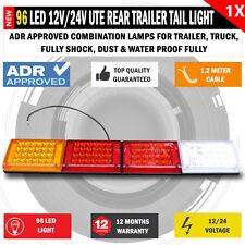 NEW 96 LED 12V - 24V Rear Trailer Tail Light Caravan Truck Boat Car Indicator