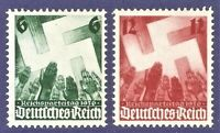 DR Nazi 3d Reich Rare WWII Stamp '1936 Salute to Swastika Nazi Congres NURENBERG