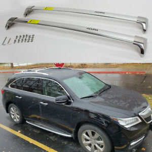 Stainless Steel Roof Rail Rack Cross Bars Crossbars Fit for Acura MDX 2014-2021