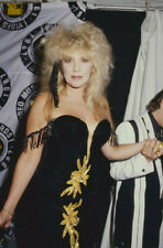 Stevie Nicks Fleetwood Mac sexy in black dress candid Original 35mm Transparency