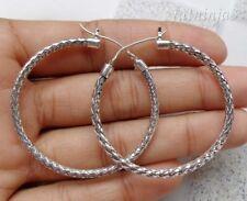 Rope Design Solid Silver, 925 Balinese Hoop Earring 22965