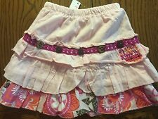 NWT Naartjie Skort Pink Muslin with Macaw Ruffle in Pearly Girls Size 3-6 Months