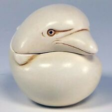 Vtg Harmony Kingdom Box Figurine Roly Poly Mae Dolphin Tjrpdo 2000 Retired Mib