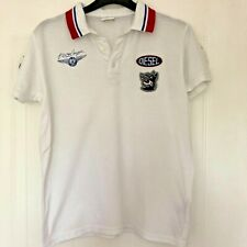Boy's Diesel White Flying Cougar Polo Shirt Size Age 12