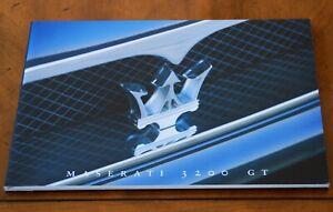 Maserati 3200 GT Coupe prestige brochure/booklet Prospekt, 1999