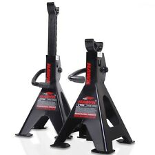 HAWK 2 TON 4 TON PAIR AXLE JACK STANDS GARAGE WORKSHOP CAR MECHANIC RATCHET LIFT