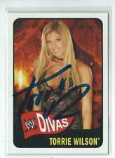 Torrie Wilson Signed 2005 Topps WWE Heritage Diva Card #61