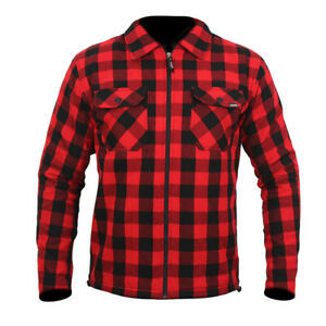 ARMR Aramid Armoured Motorcycle Shirt: Red: Sizes Available