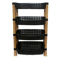 Raddan HQ 4 Tier Decorative Vegetable Fruit Rack Storage Stand Trolley DCS-S