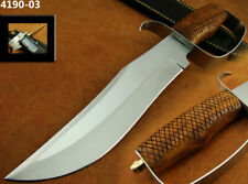 """ALISTAR 13"""" HANDMADE STAINLESS STEEL D GUARD HUNTING BOWIE KNIFE TOP(4190-3"""