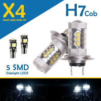 H7 Led 6000K Xenon Super Halogen Headlight 499 Bulbs Hid 12v Cob 501 Side lights