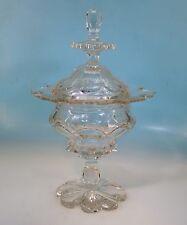 Biedermeier Glaspokal Böhmen um 1850 hand cut high class glass 32,5 cm - 17070 -