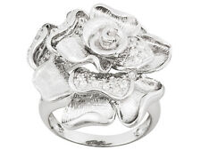 Bella Luce (R) .74ctw Rhodium Plated Sterling Silver Flower Ring Size 6