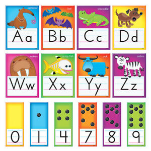 Trend Enterprises Awesome Animals Alphabet Cards Standard Manuscript B.B. Set