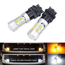 2x Switchback 3157 Weiß&Bernstein SMD5730 20LED Lamp Blinker Dual-Color Mächtig