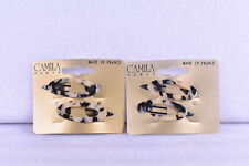 """LOT OF 2 Camila Paris 2"""" French Hair Slide Clips 2ct (4 TOTAL), Flow Color"""