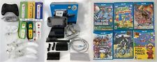 Nintendo Wii U Deluxe 32GB Black Console, 6 Games, 8 Controllers and more, NR