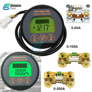 DC 80V 50A 100A 350A T16 Battery Monitor Capacity Tester Voltmeter Ammeter