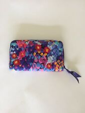 Vera Bradley Accordion Wallet Impressionista Blue Red Pink