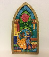 Disney Parks Beauty And The Beast Stained Glass Window Frame Brand New!