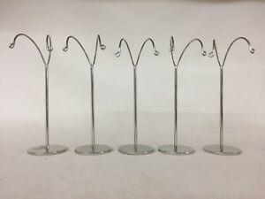 Set of 5 Chrome Metal Earring Stand Display (11.5cm tall) jewellery displays