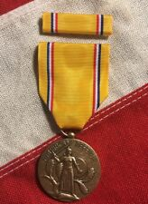 American Defense Medal With Ribbon Bar Mounted WW2