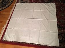 """52"""" Square White Embroidered Table Cloth"""