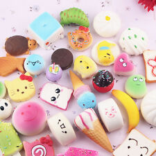 20Pcs Set Jumbo Medium Mini Random Squishy Soft Panda/Bread/Cake Phone Straps^_^