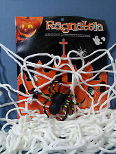 HALLOWEEN RAGNATELA BIANCA SUPER con MAXI RAGNO DJ PARTY FESTA HORROR