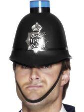 Mens Unisex Police Helmet Hat Flashing Light Fancy Dress Emergency Accessory Fun