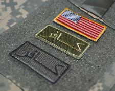 """ELITE SP OPS SEAL SAS JTF2 KSK WAR TROPHY 2"""" 3-TAB SET: INFIDEL كافر US Flag"""