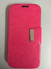 Funda Flip para  IPHONE 4/4S Soporte tipo libro ROSA FUCSIA + PROTECTOR PANTALLA