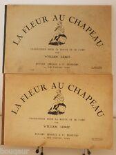 PIERRE JOUBERT LEMIT La Fleur au Chapeau - Chansonnier 2 volumes SCOUTISME 1937