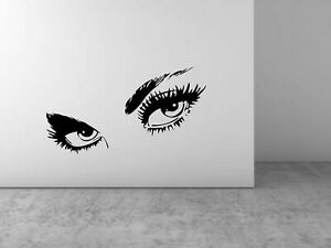 Eyebrows Eyelashes Wall Sticker DIY Art Decal Wall Home Decoration eye brows