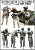 2 x Figures US Marines Humvee Soldiers Unpainted Unassembled Resin Kit 1/35 V2