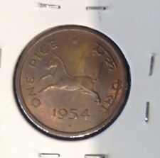 1954 1 Pice India Coin