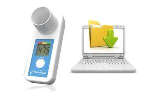 eMini-Wright Digital Peak Flow Meter USB Download Version