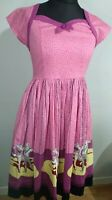 Dancing Days Pink 1950s Retro Ballet Dancers Small fit n flare Summer Swing