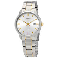 Seiko Neo Classic Silver Dial Stainless Steel Mens Watch Sur197