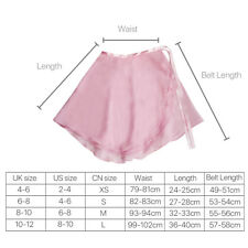 4 Color Chiffon Ballet Skirt Dance Skate Wrap over Scarf Dress Adult Women