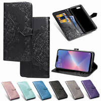 For OPPO AX5/A3s/A83/A73/F5 Wallet Flip PU Leather w/Card Slots Stand Case Cover