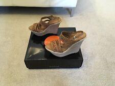 Karen Millen Brown Leather Wedges UK 3 (36)