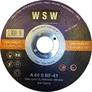 30 St  Trennscheiben 125 x 1 INOX Edelstahl Metall Stahl Flexscheiben Extradünn