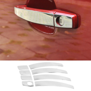 Fit For Buick Verano 2012-2017 Chrome Steel Outside Door Handle Sticker Trim 8PC