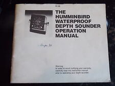 The Humminbird Waterproof Depth Sounder Operation Manual