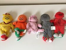 Bassetts Jelly Babies Collezione Peluche Beanie Toys 5 Rosa Giallo B0414