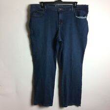 Lee Womens Size 22W Petite Plus Size Relaxed Fit Medium Wash Straight Leg Jeans