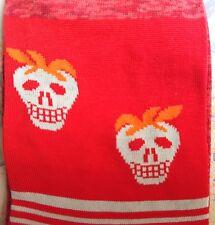 Paul Smith Mens Italian Socks Rasputin Skull Red Orange K419 One Size Cotton Mix